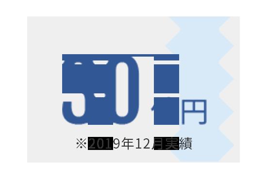 30億円 ※2019年12月実績